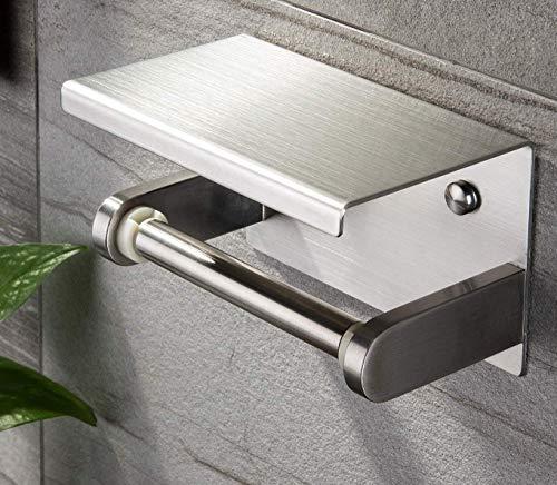 Toilettenpapierhalter Ablage Klopapierhalter Ohne Bohren Edelstahl WC P...