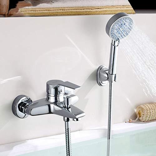 Badewannenarmatur mit Handbrause, BONADE Chrom Wannenarmatur Badewanne Wasserhahn inkl ...